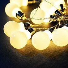 10 Stück LED Lichterkette Glühbirne Birnen Kette Ball Kugel Leuchte Deko Weihnachten Party Hochzei
