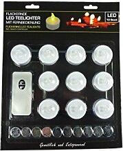 10 Stück LED Teelicht mit Fernbedienung und inkl.