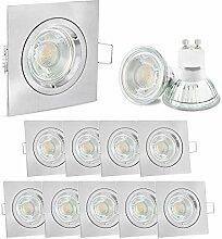 10 Stück linovum® Design LED Einbaustrahler Set