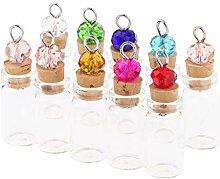 10 Stück Mini 1ml Leere Glas Korken Flaschen