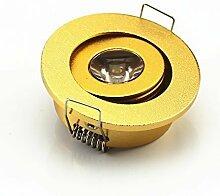 10Stück Mini Gold 3W Mini LED Strahler