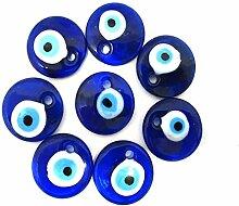 10 Stück Nazar Boncuk Boncugu 2,5/3/4/5 cm Blaues