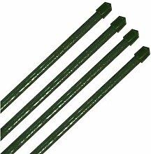 10 Stück Pflanzstäbe Pflanzstab Pflanzenstab grün in verschiedenen Größen (Ø 11 x 1200 mm)