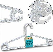 10 Stück qualitativ hochwertiger Designer Kleiderbügel mit Bubble Luftblasen aus transparenten Kunststoff Polystyrol Garderobenbügel Maße: LxH 42 x 20 cm