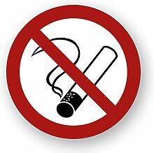 10 Stück Rauchen verboten Aufkleber Ø 9,5cm rund