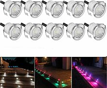 10 Stück RGB LED Einbaustrahler led
