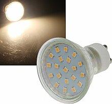 10 Stück | SMD LED Leuchtmittel | 230Volt | Sockel GU10 | ø 50mm | 3Watt | 280Lumen | 3000Kelvin | Warmweiß | EEK A+