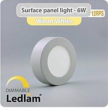 10 Stück Vorteilspack LED Aufbauleuchte 6 Watt