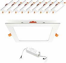 [10 Stück] Xtend 12W Ultraslim Slim LED Panel