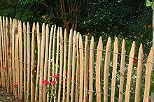 10 Stück Zaunlatte Kastanie 150 cm lang / gespalten - geschält - einseitig angespitzt / Kastanienholz / Stakete / Staketenzaun von Gartenwelt Riegelsberger