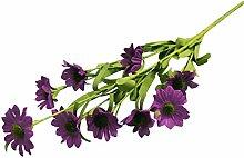 10 Stücke Künstliche Blumen 9 Köpfe Günstige Daisy Silk Dekorative Gefälschte Blumen Künstliche Pflanzen Bouquet Diy Flores Für Dekoration Zubehör - Lila