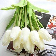10 Stücke Rosa Farbe Schönheit Real Touch Blumen