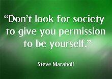 """10 T Don'Look für die Gesellschaft zu ihnen Permission To Be Yourself motivierendem """"Love Life"""" Belive Bestimmung Best Color Bilderrahmen für DIN A3, Poster-Prin"""