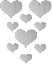 10 Teile / satz Liebe Herz Spiegel Aufkleber Acryl
