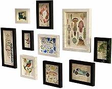 10-teiliges Bilderrahmen-Galerierahmen-Set für