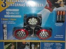 10 Ultra Bright LED Stirnlampe/Taschenlampe