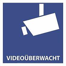 10 Videoüberwacht Aufkleber - Aufkleber