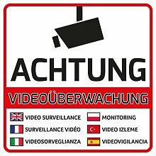 10 Videoüberwachung Aufkleber Videoüberwachung