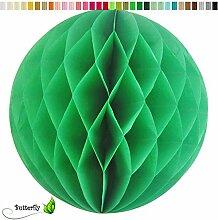 10 Wabenbälle 15cm Set ( grün 580 ) // Waben Ball Hänge Deko Ballons Laternen Wabenball Dekoration Bälle Pompons Papier Party Hochzei