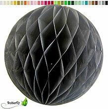 10 Wabenbälle 15cm Set ( schwarz 030 ) // Waben Ball Hänge Deko Ballons Laternen Wabenball Dekoration Bälle Pompons Papier Party Hochzei