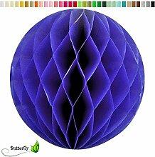 10 Wabenbälle 20cm Set ( blau / königsblau 352 ) // Waben Ball Hänge Deko Ballons Laternen Wabenball Dekoration Bälle Pompons Papier Party Hochzei