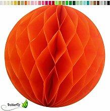 10 Wabenbälle 20cm Set ( orange 668 ) // Waben Ball Hänge Deko Ballons Laternen Wabenball Dekoration Bälle Pompons Papier Party Hochzei