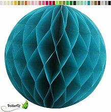 10 Wabenball 10cm Set ( dunkel türkis 340D ) // Waben Ball Honeycomb Papier Hänge Deko Laternen Dekoration Bälle Pompons PomPom Party Hochzeit Raumdeko