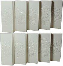 10 weiße Keramik Wasser - Verdunster