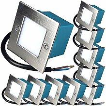 10 x 1.5W LED Wandeinbauleuchte 230V