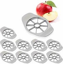 10 x Apfelschneider, teilt in 8 Apfel Spalten,