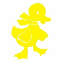 10x Ente mit Schleife Fliesenaufkleber Küche Badezimmer., Vinyl, silber, 130 mm