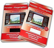 10 x Fliegengitter 130x150cm 100x120cm schwarz weiss FLIEGENSCHUTZGITTER Fenster (Weiß, 100x120cm)