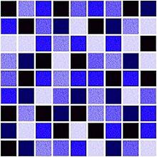 10 x Fliesen Aufkleber / Fliesen Folie - Mosaic Mosaik Design blau - 10 x 15 cm Fliesen Dekor Deko Fliesen Imita
