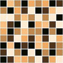 10 x Fliesen Aufkleber / Fliesen Folie - Mosaic Mosaik Design braun - 15 x 20 cm Fliesen Dekor Deko Fliesen Imita
