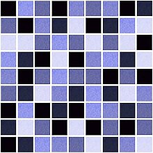 10 x Fliesen Aufkleber / Fliesen Folie - Mosaic Mosaik Design hell blau - 20 x 25 cm cm Fliesen Dekor Deko Fliesen Imita