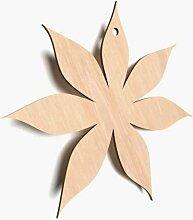 10x Holz-Blume Form Uni Daisy flowerstags blanko