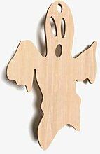 10x Holz Ghost Boo Spuk-Form Große Ebene Tags