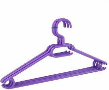 10 x Kleiderbügel drehbar Set Wäschebügel Kinderschrank Bügel Kunststoff Drehbügel (violett)