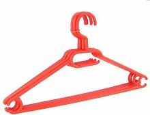 10 x Kleiderbügel drehbar Set Wäschebügel Kinderschrank Bügel Kunststoff Drehbügel (rot)