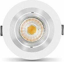 10 x LED Einbaustrahler Set Bicolor dimmbar inkl.