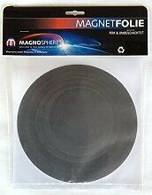 10 x Magnetfolie Magnetschild roh braun rund -