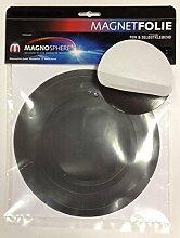 10 x Magnetfolie Magnetschild selbstklebend rund -