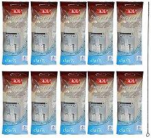 10 x MELITTA PRO AQUA Wasserfilter + QUVIDO Reinigungsbürste