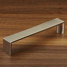 10 x Möbelgriff DEVIN BA 128 mm Edelstahloptik Küchengriff Schrankgriff Schubladengriff von JUNKER Design