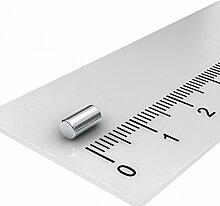 10 x Neodym Stabmagnet, 3 x 6 mm, Grade N48,