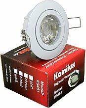 10 x Power LED Einbaustrahler Bajo in weiss 230V