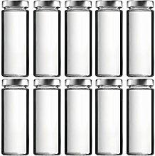 10 x Smoothieflasche 380 ml Glasflaschen mit