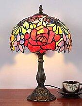 10 Zoll Pastoral Rose Retro Antik Tischlampe