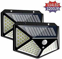 100/114 LED Outdoor Solar Bewegungsmelder Lichter,