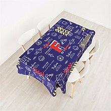 100*140cm blau gelb Gekritzel PopArt Instagram Tischdecken Baumwolle leinen Esstisch Rezeption rechteckigen quadrat nicht bügeln umweltfreundlich Tischtuch
